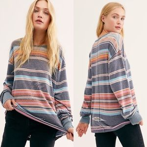 Free People | NWT Arielle Long Sleeve Sunset Combo